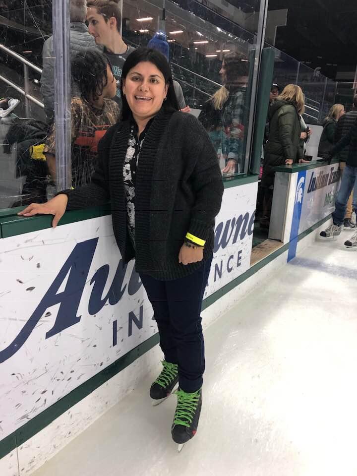 Imagen : Maritza patinando sobre hielo