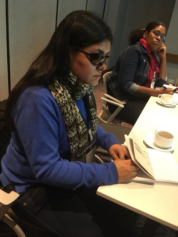 Imagen : Participando en taller de Fulbright